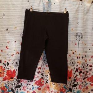 Vera Wang Cropped Black Stretch Pant